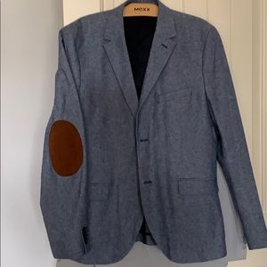 Men's Slim Fit Blazer with elbow patches